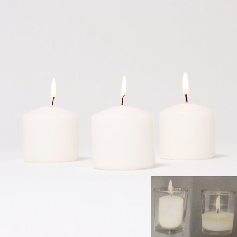 BOX CANDELE 16PZ 50X40MM -bianco