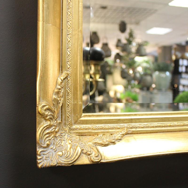 Specchio 60x120cm c cornice 74x134cm oro 125g60120 arredo firenze gandon - Specchio cornice oro ...