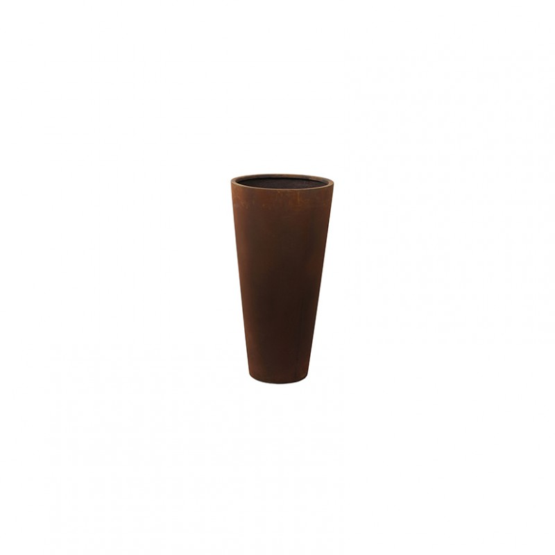Vaso unique dm36 h70 cm rust