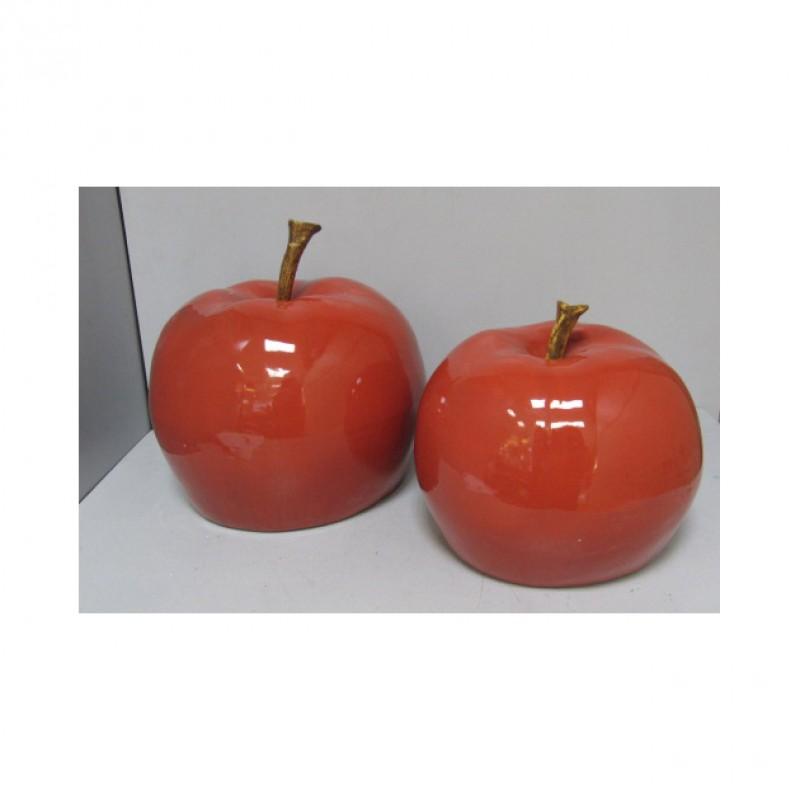 Mela ceramica cm 33x33x26 21301173 complementi d for Complementi d arredo firenze