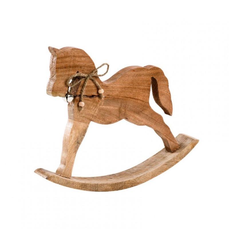 Cavallo A Dondolo Legno Bomboniera.Cavallo A Dondolo Legno Cm 23x16x4 21704088 Natale Varie