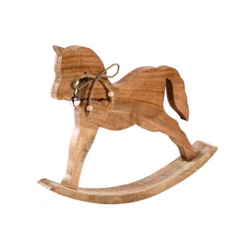 Cavallo A Dondolo Legno.Cavallo A Dondolo Legno Cm 34x28x5 5 21704089 Natale Varie