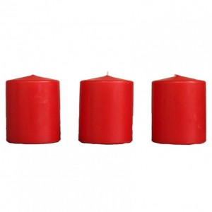 BOX CANDELE MM100X100 PZ 6 rosso