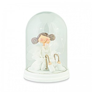 BALLERINA IN CAMPANA C/LED H 19,5 CM