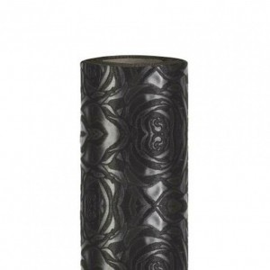 ROLL OF WOVEN ROSES CM100X9MT BLACK