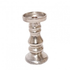 CANDELABRO ALLUM. NICKEL MEDIUM H18CM