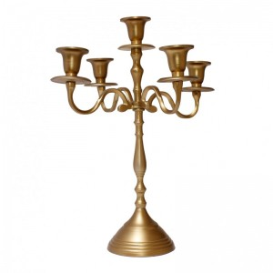 CANDELABRO GOLD 5 FUOC. H40CM