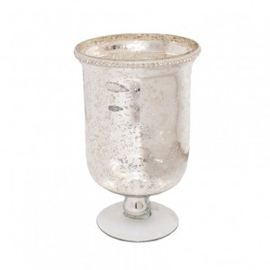 VASO MERCURY SILVER DM16*H25 CM-base11,5