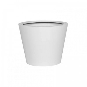 VASO BUCKET RES/CEM.D49,5H40-matt white