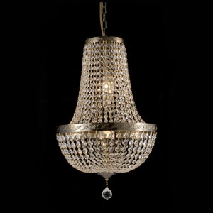LAMPADARIO 6LUCI 40XH60CM BRASS ANTIQUE