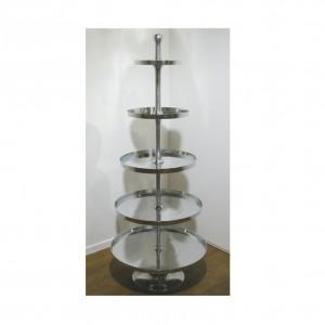 Alzata 5 piani alluminio lev 2951 complementi d 39 arredo for Complementi d arredo firenze