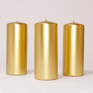 BOX CANDELE 4 PZ 200X100MM ORO