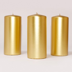 BOX CANDELE MM200X100 PZ 6 gold