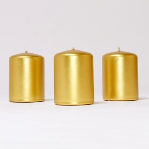 BOX CANDELE 4PZ ORO/ARG 100X100MM