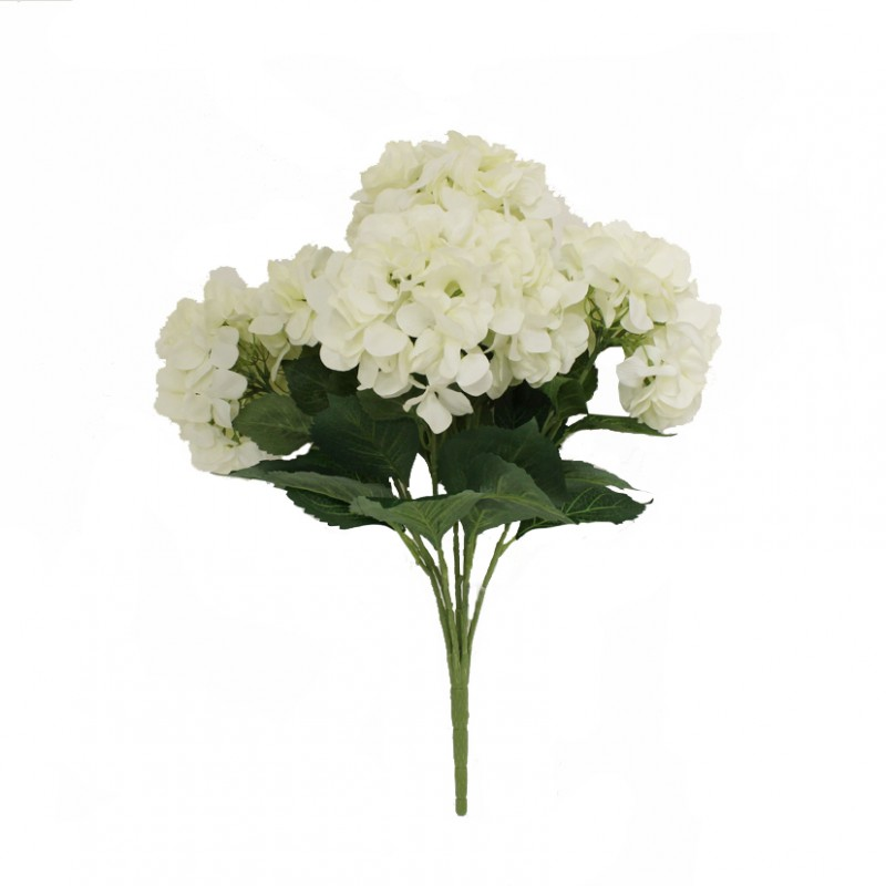 ORTENSIA BUSH 59CM BIANCO-OR11,80  *