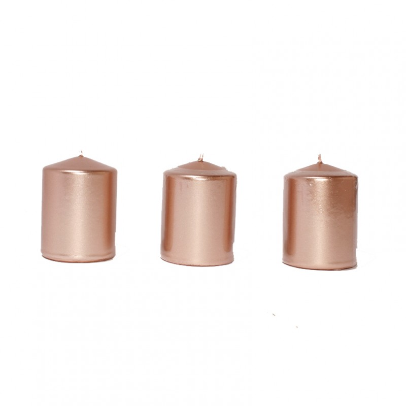 BOX CANDELE MM80X60 PZ 16 -rosegold