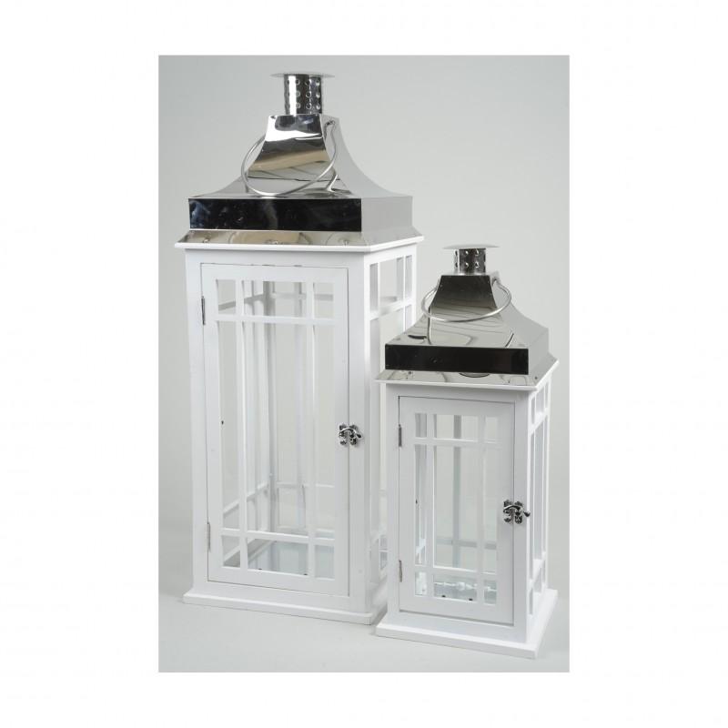 S 2 lanterne legno acciaio 842583 lanterne firenze for Lanterne in legno