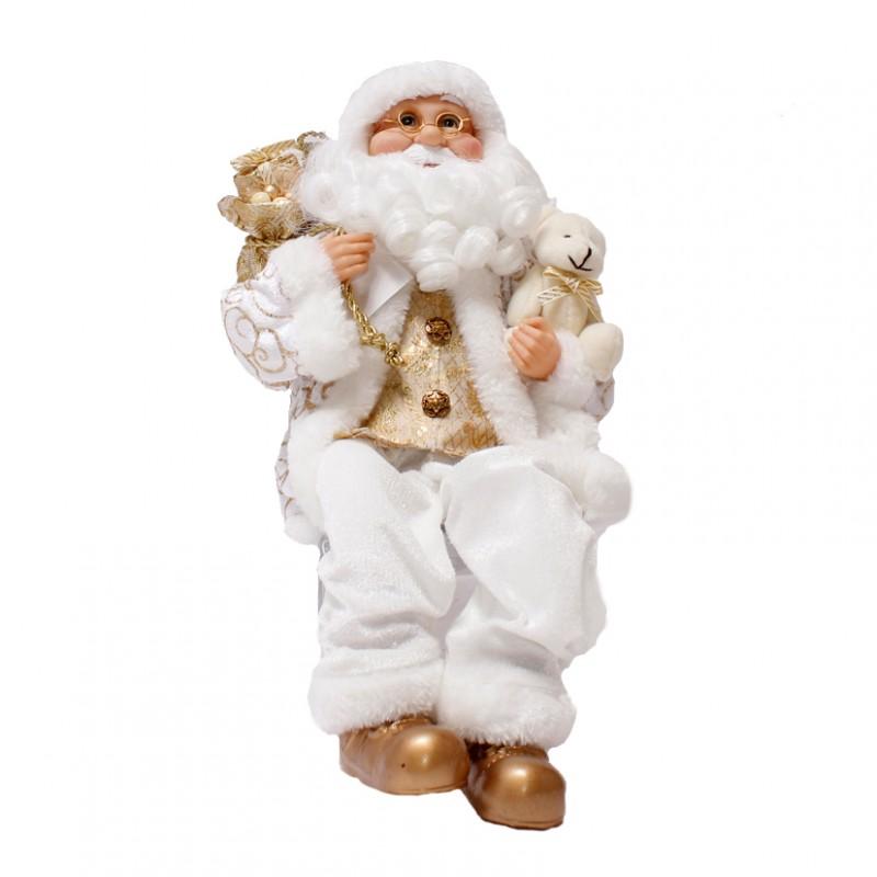 Babbo Natale 40 Cm.Babbo Natale H 40 Cm F17060029 Natale Babbi Natale Pupazzi Firenze Gandon