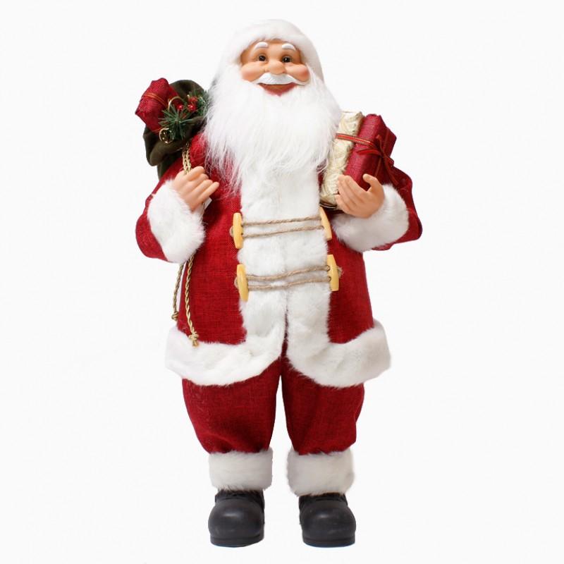 Babbo Natale 60 Cm.Babbo Natale H 60 Cm F17060148 Natale Babbi Natale Pupazzi Firenze Gandon