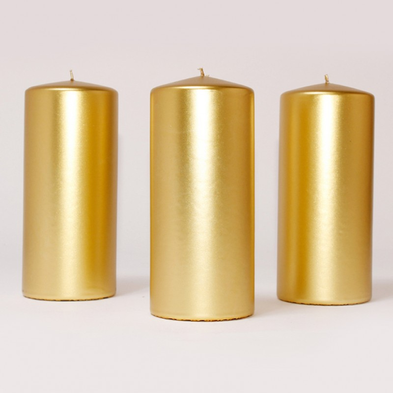 BOX CANDELE MM200X100 PZ 6 -gold