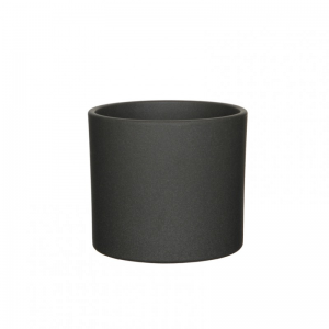 VASO ERA D19,5 H17,5 cm - dark grey matt