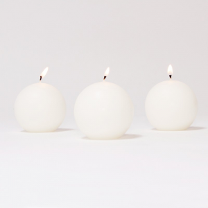 BOX CANDELE SFERA MM60 PZ 16 -bianco