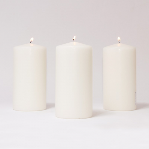BOX CANDELE 4 PZ 250X50MM -bianco