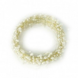 FILO PERLE ACRIL. 25MT. - creme/gold