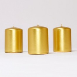 BOX CANDELE 4PZ 100X100MM -oro